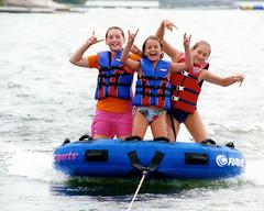 Girls tubing (StateMaryland) Tags: life ski landscape boat skiing jacket boating carie tubing lifejacket sobbott