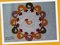 Toalha Galinhas (Pedaço de pano by Sônia Ferraz) Tags: toalha patchwork galinhas