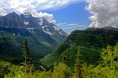 McDonald Creek Valley - Going-to-the Sun Road (Cole Chase Photography) Tags: mountains canon montana mt glaciernationalpark oberlin t3i ushapedvalley goingtothesunroad glacialvalley heavenspeak mtoberlin mcdonaldcreekvalley