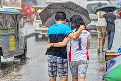Let's walk (rewer_pi21) Tags: umbrella rain couple streetphotography teampilipinas