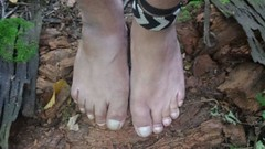 Barefoot Hiking (bfe2012) Tags: barefoot barefeet barefooting barefooted barefooter boy barefoothiking baresoles barefoothiker barfuss feet freedom forest foot lifestyle barefootlifestyle muddyfeet dirtyfeet indian dirty nature toes tough toughsoles grass hiking soles shoes swamp muddy marshland marsh myshoes woodland woods hiker