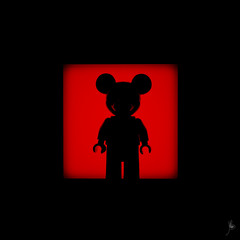 Shadow (206/100) - Mickey Mouse (Ballou34) Tags: light shadow canon toy mouse toys photography eos rebel blackwhite flickr lego stuck disney mickey plastic walt photgraphy mousse minifigure afol 2016 minifigures toyphotography 650d t4i eos650d legography rebelt4i legographer stuckinplastic ballou34 enevucube 100shadows