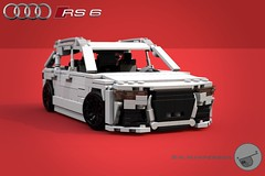 Audi RS6 Avant - 11-wide - Lego (Sir.Manperson) Tags: moc lego ldd2povray bluerender render audi rs6 miniland