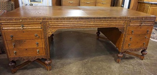 Large Oak Partner's Desk ($952.00)