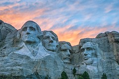 Mt. Rushmore (Doug Wallick) Tags: mount rushmore memorial monument black hills south dakota keystone colorful clouds dusk sunset doug wallick photo patriotic american presdents history