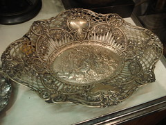 "LARGE 800 SILVER PIERCEWORK REPOUSSE BOWL. • <a style=""font-size:0.8em;"" href=""http://www.flickr.com/photos/51721355@N02/28651338413/"" target=""_blank"">View on Flickr</a>"