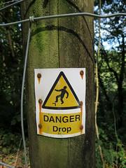 IMG_8173 (rowchester) Tags: danger man peril sign warning denham wood devon forestry commission