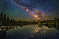 Reflecting the Universe (skypointer2000) Tags: astrophotography astronomy astro milkyway milchstrasse uintas mountains utah landscape longexposure nightscape night astromodified canoneos6d hutech canon tamron tamronsp1530mmf28 reflection lake sky skyglow stacking fitswork ~themagicofcolours~xi