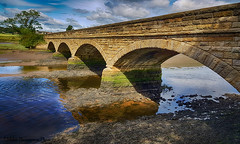 another Alnmouth Bridge shot when the tide was lower. again taken with mobile phone S7 (mike4604) Tags: bridge alnmouth northumberland northeast