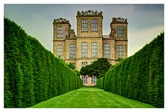 Hardwick Hall - Derbyshire. (john lunt) Tags: hardwick hall elizabethan house estate castle stately home royal majestic historic architecture stone glass lawn grass formal garden ewe hedges hedgerow doe lea chesterfield derbyshire s44 5qt england uk britain national trust english 1500s classical heritage beautiful elegant landmark grand symmetric symmetry tourist attraction tourism johnlunt john lunt horizontal landscape hdr tonemapped nikon d810 85mm f14 prime lens outdoors rural countryside bess