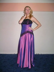 Purple girl (Paula Satijn) Tags: girl lady young beauty gorgeous blond blonde purple dress gown elegance cute adorable hair feminine girly skirt lace shiny satin silk