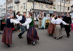 Dance Displays @ Sidmouth Folk Week (2016) 29 - Folk Dance Group Dandari (KM's Live Music shots) Tags: worldmusic latvia folkdancegroupdandari dancers sidmouthfolkweek esplanadesidmouth