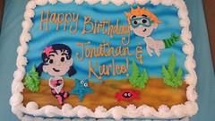 Birthday Sheet Cake (tasteoflovebakery) Tags: mermaid under sea water ocean sheet cake