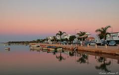 Amanhecer na  Ria Formosa em Sta. Luzia (marialusaarajo) Tags: amanhecer riaformosa santaluzia belosreflexos cromatismo