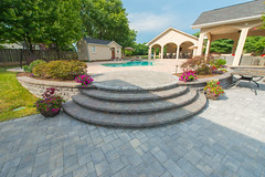 After 2016 (22) (The Sharper Cut Landscapes) Tags: belgardhardscapes patio pavers plantings paverdesign pool pavilion walkway steps seatwall retainingwall landscapedesign landscaping landscapecompany landscapelighting thesharpercutlandscapes thesharpercut
