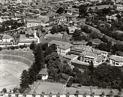 Cranbrook School Rose Bay c. 1937 (Royal Australian Historical Society) Tags: rahs royalaustralianhistoricalsociety cranbrook school rosebay aerialphotography adastraaerialsurveycollection adastra landscape 1937