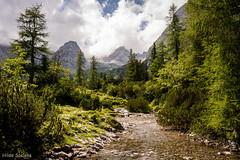 A walk to the Seebensee Tirol (Hilde Saelens) Tags: austria ehrwald oostenrijk seebensee tirol zugspitzarena hiking outdoors mountains water clouds