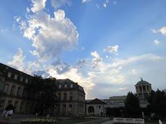 Evening sky over Neues Schloss, Stuttgart, Germany (Paul McClure DC) Tags: stuttgart germany deutschland aug2016 badenwrttemberg architecture historic