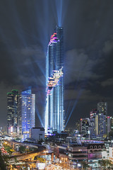 The Grand Opening @ MahaNakhon (tapanuth) Tags: mahanakhon bangkok thailand bangrak grand opening 29aug2016 lightshow show light city skyscraper tallest architecture design advance building highrise night spotlight laser debut event asia southeast urban beautiful modern thai tall