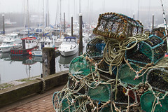Old Harbour (smir_001 (on/off)) Tags: fishingtown harbour boats fog seafog mist morning outdoor tourist beach sands sandbeaches weather september autumn scarborough northyorkshire england uk seafront oldharbour canoneos7d searesort marina foggy atmospheric misty landscape fishingnets crabpots crabbing