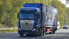 WX16 OOG (panmanstan) Tags: mercedes actros mp4 wagon truck lorry commercial curtainsider freight transport hgv haulage vehicle a63 southcave yorkshire