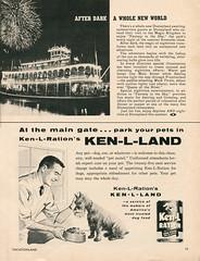 Vacationland, Summer 1960 20 - After Dark A Whole New World (Tom Simpson) Tags: vacationland vintage 1960 1960s disney vintagedisney disneyland marktwainriverboat kenlland