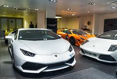 Lamborghini Family. (JayRao) Tags: supercar limited edition paris jayr nikon d610 nikkor 1424 fx 2015 lamborghini murcielago lp640 roadster huracan lp610 blancpain supertrofeo 50th anniversario aventador lp720
