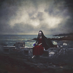 the waiting maid (sparkbearer) Tags: 365project 365 fineartphotography ocean sea dark darkart spooky ghost ghosts widow sadness maid waiting time chelseaknight