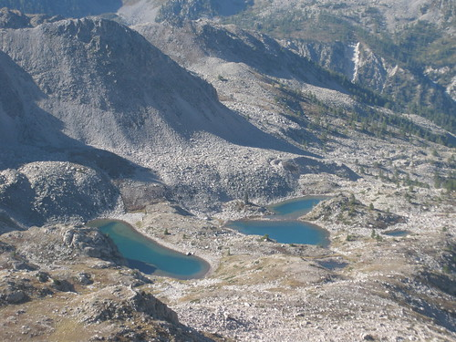 Vue du Col de Frémamote : Lacs de Frémamorte