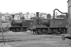 20/06/1963 - Ryde St Johns (70H) depot, Isle of Wight. (53A Models) Tags: britishrailways adams lswr southernrailway o2 044t w18 ningwood 35 freshwater steam rydestjohns 70h mpd isleofwight train railway locomotive railroad