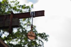Pulley of Rust (frisiabonn) Tags: pulley rope depth field rust metal old tree birkenhead england uk