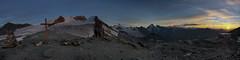 20160902-Zonsondergang boven de Cabane Tracuit.jpg (Inklaar) Tags: kruis turtmanngletscher weisshorngruppe zinal zonsondergang bergen panorama alpen cabanedetracuit gletsjer autopanopro fujifilmx100 wallis bishorn walliseralpen inklaar:see=all zwitserland alpesvalaisannes alpi alps glacierdetourtemagne penninischealpen schweiz suisse svizra svizzera switzerland valais x100 ferner ghiacciaio glacier gletscher sunset ayer ch