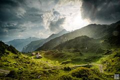 mountain thunderstorm (gregor H) Tags: dalaas vorarlberg österreich at formarinsee alp mountain summer rain dark clouds hiking spirit fresh backlight sun thunderstrom lightning strom water drops sky outdoor homeland home reflections wet