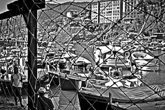 """Between Fishermen"" (giannipaoloziliani) Tags: giannipaoloziliani biancoenero seaview monochrome landscape view pescatori nikond3200 sea mens rete flickr liguria barche boats metal iron italy portofino blackandwhite fishermen nikon"