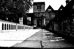 Rufford Abbey. (JamesRannoch) Tags: ruffordabbey blackandwhite abbey sherwoodforest ruffordcountrypark