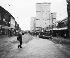 masquerade3 (matthewheptinstall) Tags: wakefield westyorkshire impressionism street uk city raindroops obscured shadows shapes figure distorted citylife wetglass throughglass morning