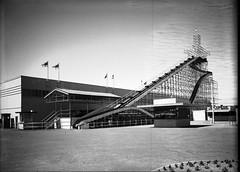 30; Roller Coaster ride, Centennial Exhibition - Circa 1940 (Wellington City Council) Tags: wellington historicwellington 1800s 1900s 1950s