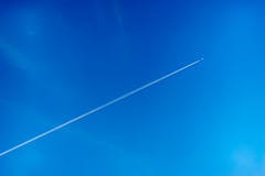 DSC02417- (danliecheng) Tags: abstract airplane background blue clear cross line plane sky smooth trails white