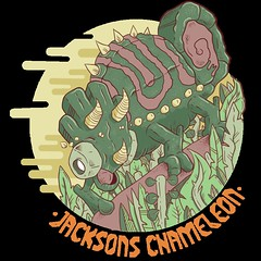 Jackson Chameleon (Re Mouse) Tags: illustration illustrator drawing artwork animal wildlife colourful creatures zoo zoology digitalillustration chameleon reptile art