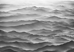 Ocean Mountains (Ben Heine) Tags: ocean travel roof sea sky blackandwhite italy cliff cloud mountains travelling art nature lines fog skyline plane landscape photography volcano 3d high jump heaven poetry waves earth stripes space altitude air horizon curves perspective sha