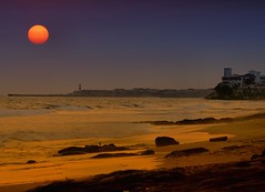 The Harmattan Is Coming! (paulinuk99999 (lback to photography at last!)) Tags: ocean africa sunset lighthouse beach atlantic osu jamestown accra harmattan paulinuk99999 sal70400g tawala