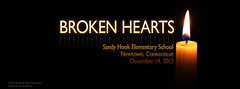 Broken Hearts - Facebook Cover Tribute (Daniel M. Reck) Tags: school broken loss hearts sadness education remember glow candle connecticut memory tribute newtown sandyhook grief brokenhearts facebook socialmedia coverimage sandyhookelementaryschool socialmediacover