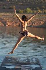 Jump for Joy (sara.delaney9) Tags: vacation holiday carefree lakepowell jumpin jumpforjoy waterboat
