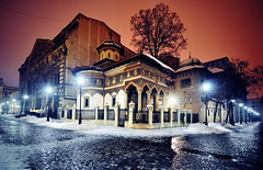 stavropoleos (fusion-of-horizons) Tags: street city winter urban building church monument architecture de religious photography photo strada fotografie exterior cross photos religion churches christian monastery romania christianity