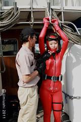 Act3_09B (mixnuts club) Tags: fetish gun scuba bondage rubber spy diver wetsuit frogwoman