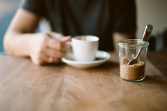 coffee and conversation (*Cinnamon) Tags: film 35mm nikonf100 kodakportra160
