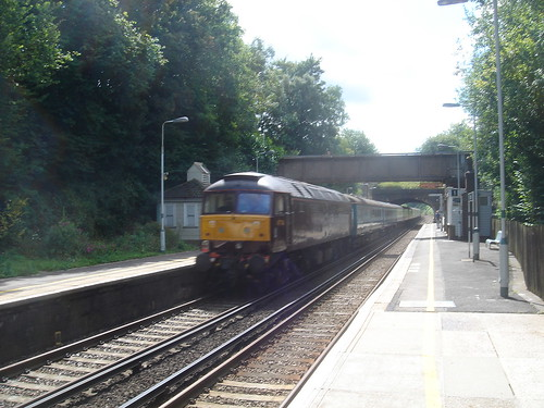 railwaystation locomotive railtour balcombe class47 dieselelectric