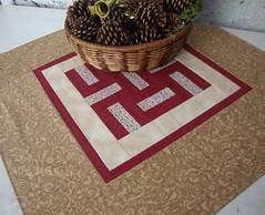 Toalhinha enrolada, (EVANISE (DIDY)) Tags: centro toalha patchwork mesa bloco tecido trilho