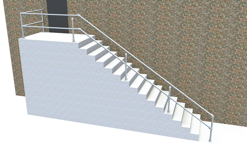 ADA Handrail Easy To Install Economical Fully Compliant ADA Railing System
