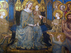 Detail fo the Madonna and Child from Simone Martini's Maesta in the Palazzo Pubblico